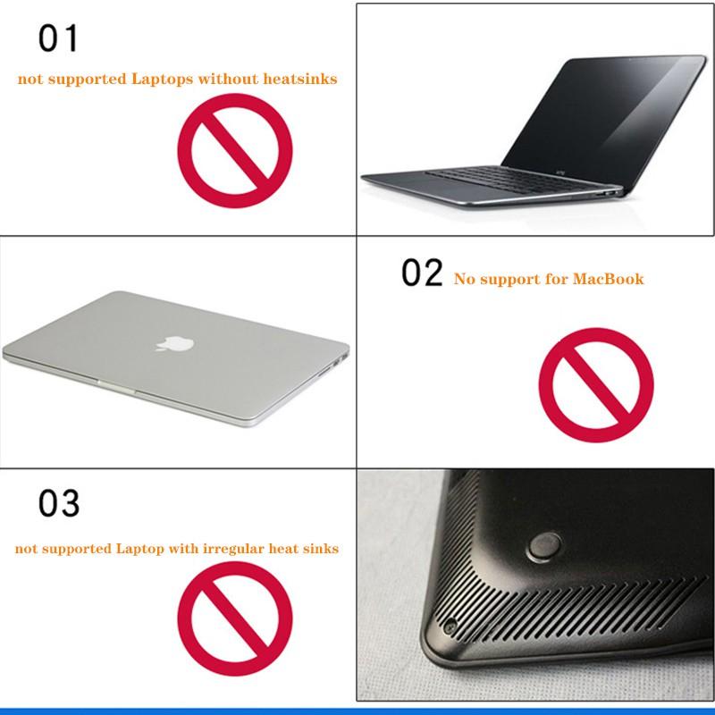 Exhausting type laptop Heatsink USB Notebook radiator Incompatible with  MacBook
