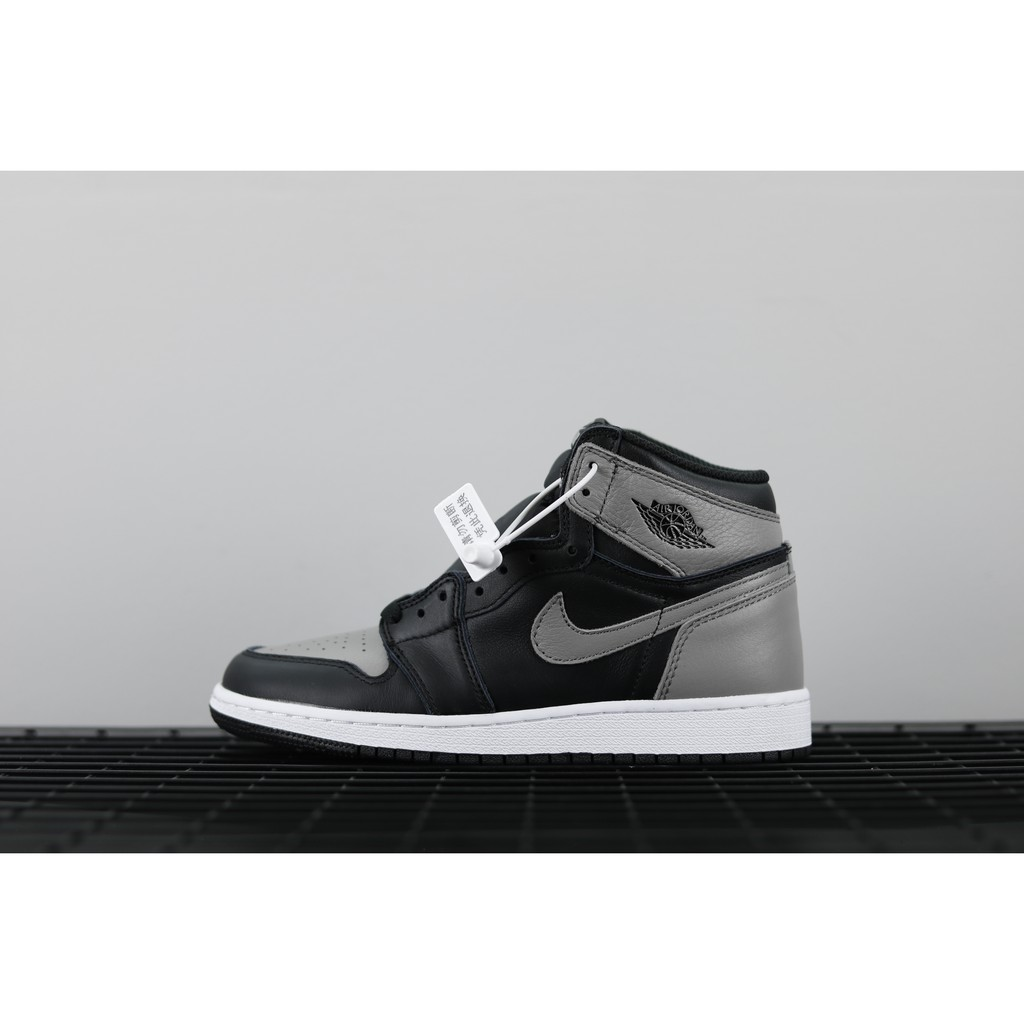 gris delincuencia Amoroso  Air Jordan 1 Retro High OG Shadow Grey Basketball Sneakers 575441-013 |  Shopee Malaysia