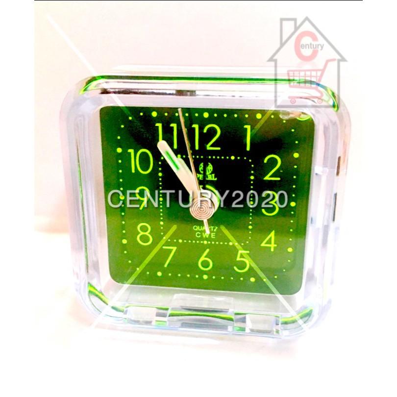 Mini Travelling Alarm Clock Transparent Design LED Light with Snooze Function
