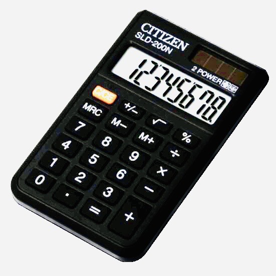CITIZEN Superior Electronic Calculator with Dual Way Power SLD-200N