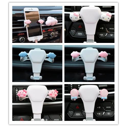 Cute Hello Kitty Cloud Car Phone Stand Mobile Holder Navigation Bracket