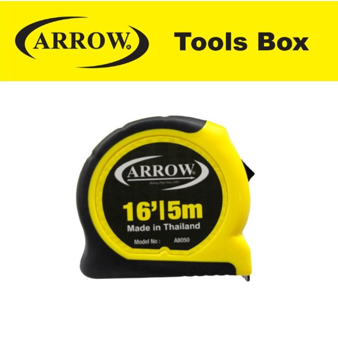 ARROW A 8050 HIGHB QUALITY TAPE MEANSURE (PREMIUM) HEAVY DUTY MEASURING TAPE EASY USE SAFETY GOOD QUALITY