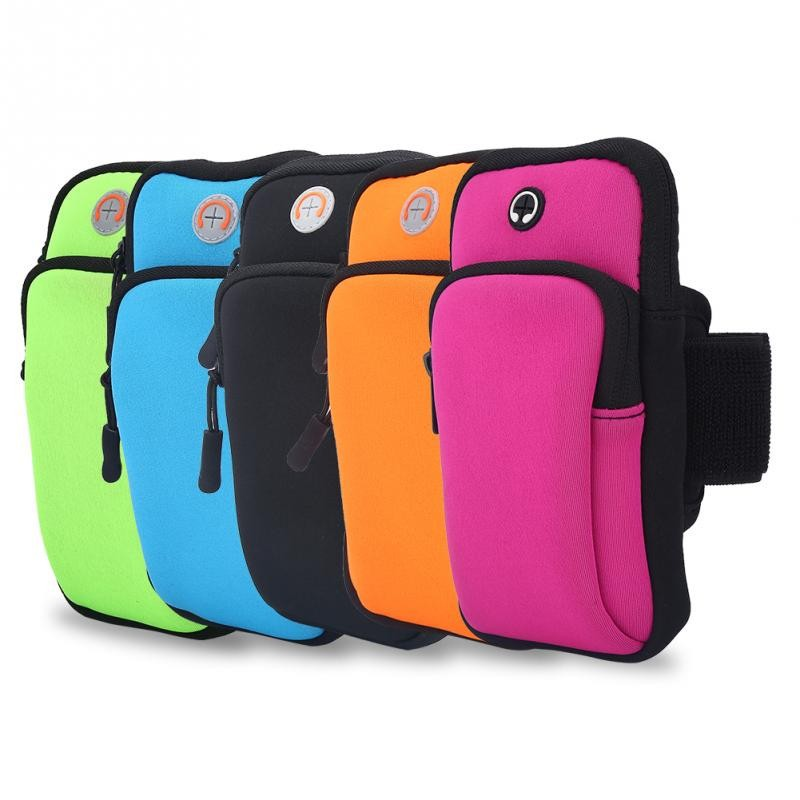 4Colors Smartphone Sports Armband Exercise Workout Running Bag Fitness Arm Bag