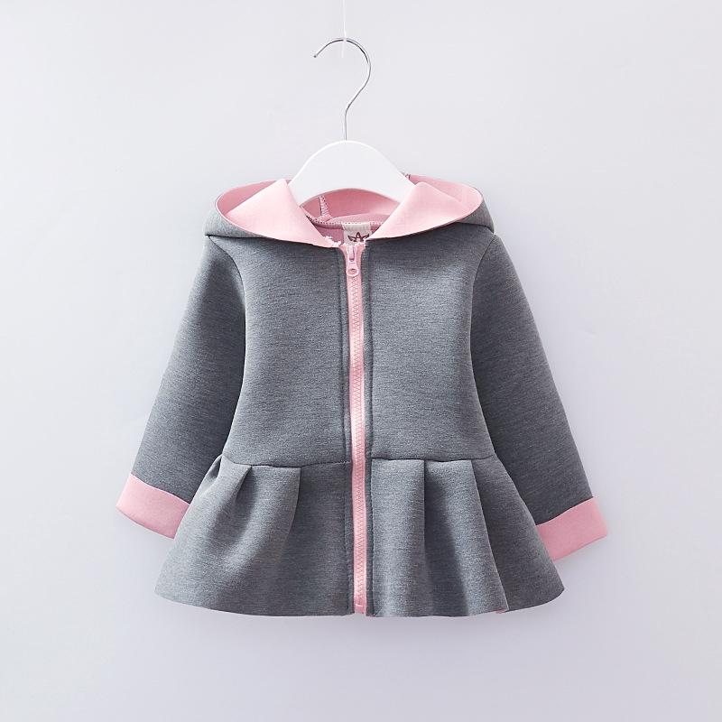 363cb8140 2018 girls autumn Korean girls cute rabbit ears hooded jacket ...