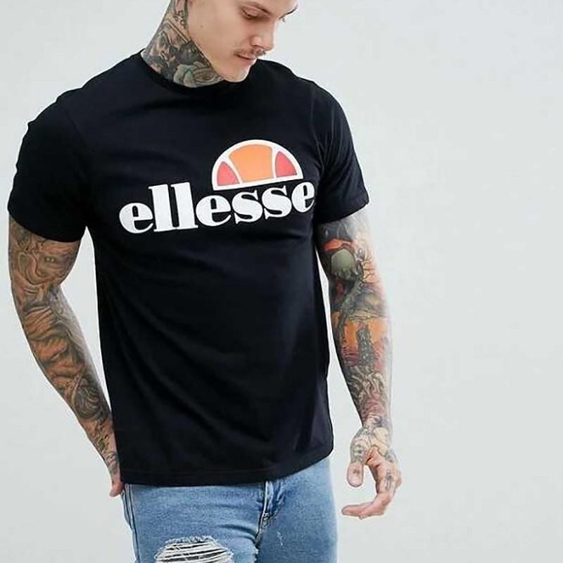 Ellesse Mens Round Neck Short Sleeve Cotton T shirt Top Tee S M L XL 2XL 3XL