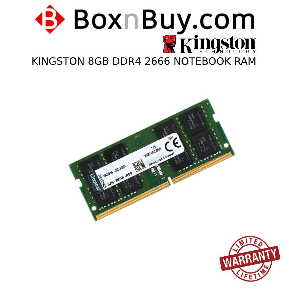 Kingston 8GB DDR4 2666 for Notebook Sodimm Ram