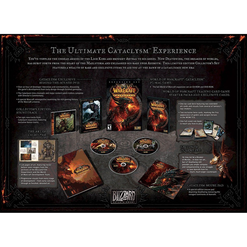 PC World of Warcraft: Cataclysm Collector's Edition