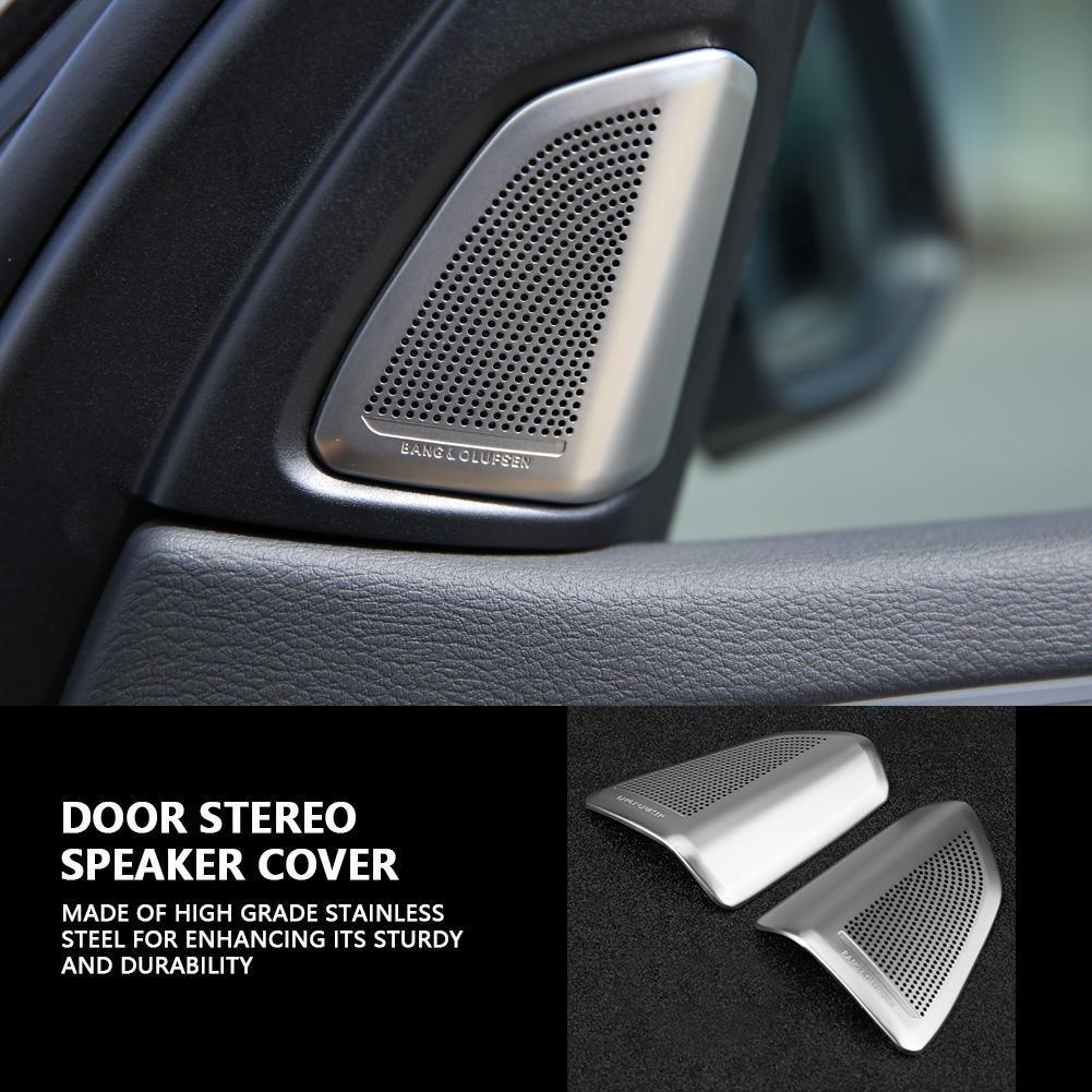 2pcs Chrome Front Door Speaker Cover Gap  Stripe Trim For BMW 5 Series F10 08-13