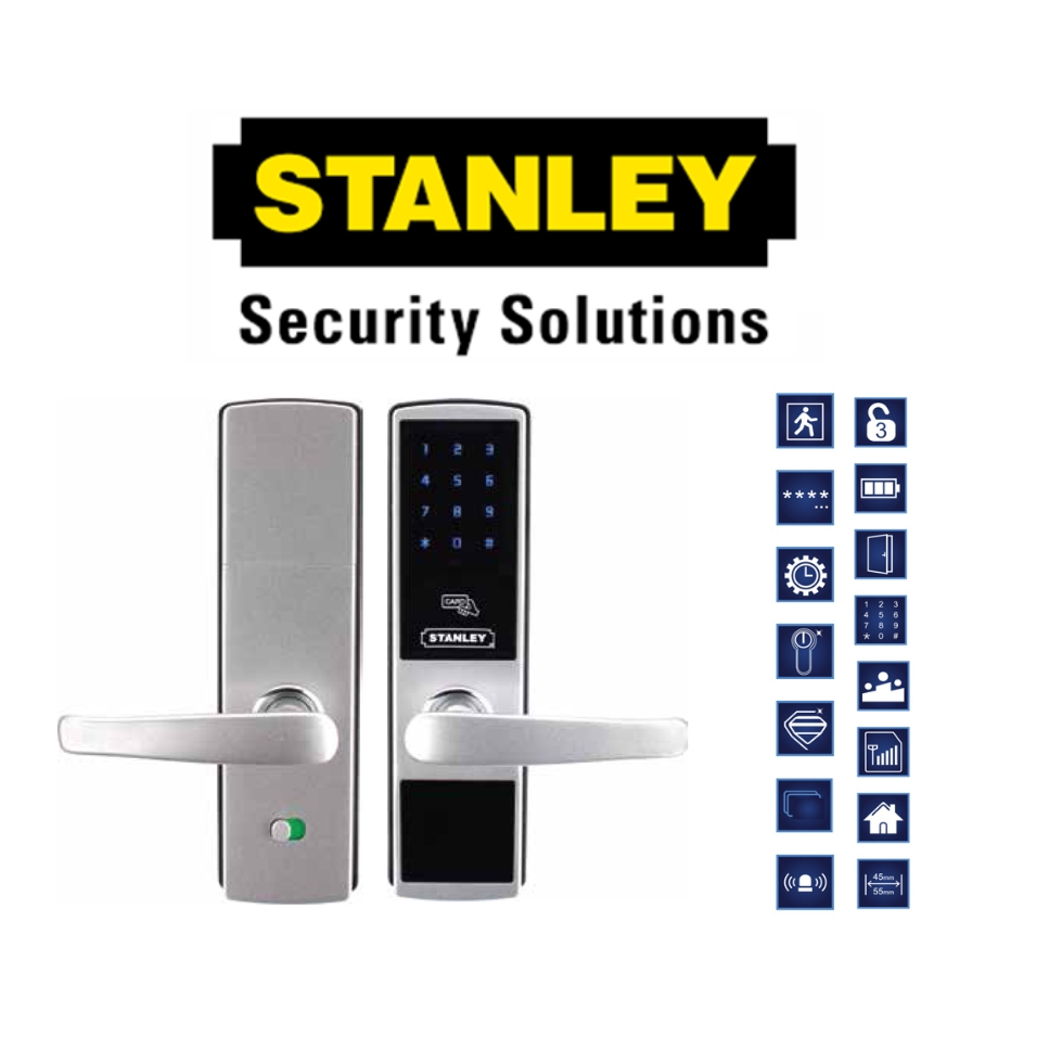 STANLEY SI 200 DIGITAL DOOR LOCK 200 PROXIMITY CARD AND COMBINATION CODED LOCK POSSWORD AND KEY( 6 MONTH WARRANTY )