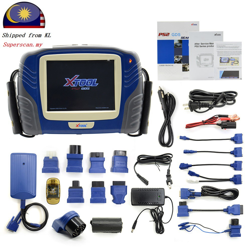 Xtool ps2 Super universal wireless/cable Car Diagnostic scanner proton  perodua shipped dari KL