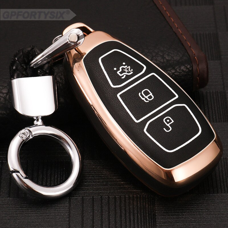 3 Buttons Alloy Remote Key Case Fob Cover Fit for Ford Fiesta Mondeo Focus