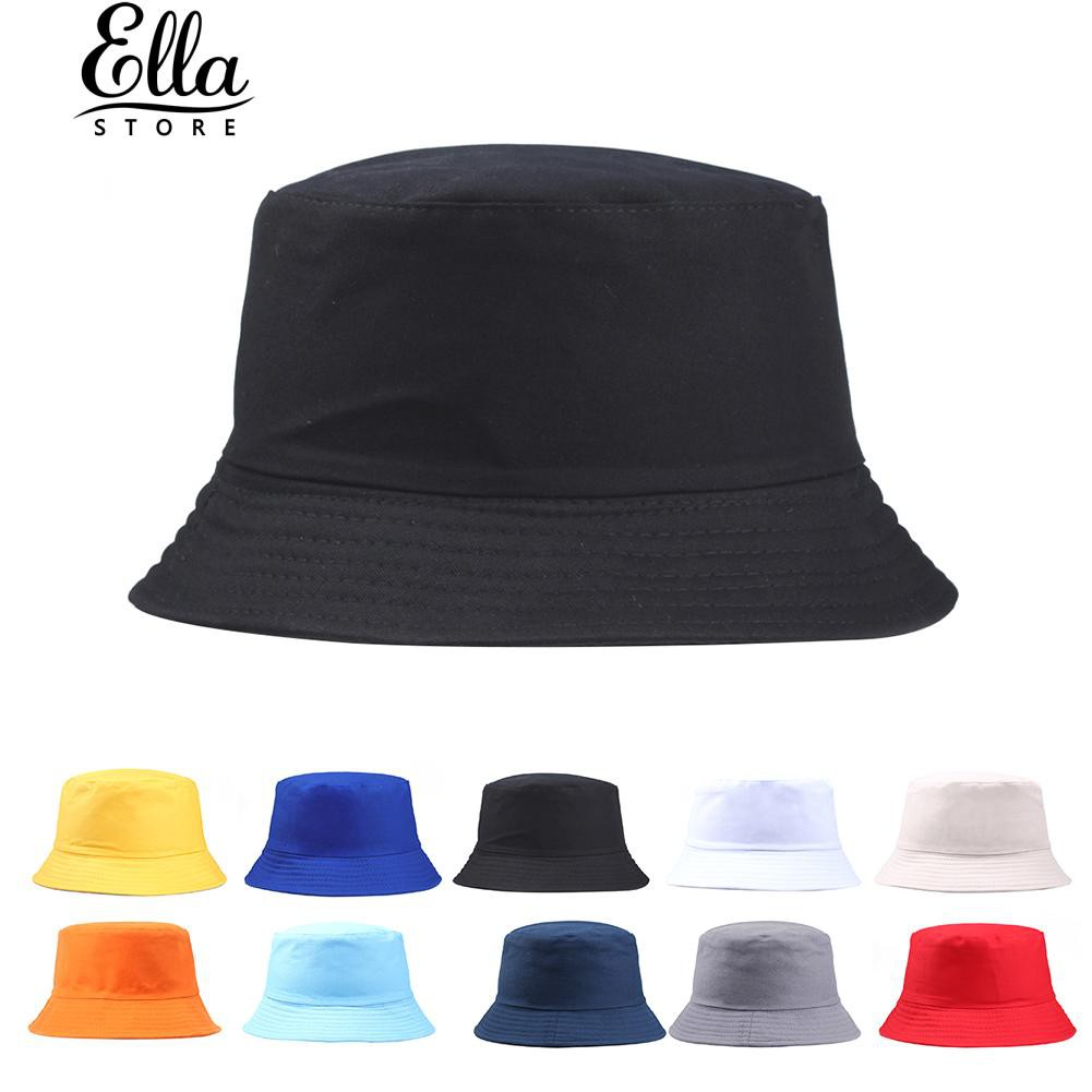84057e1aa Ellastore Portable Solid Color Folding Sun Hat Men Women Bucket