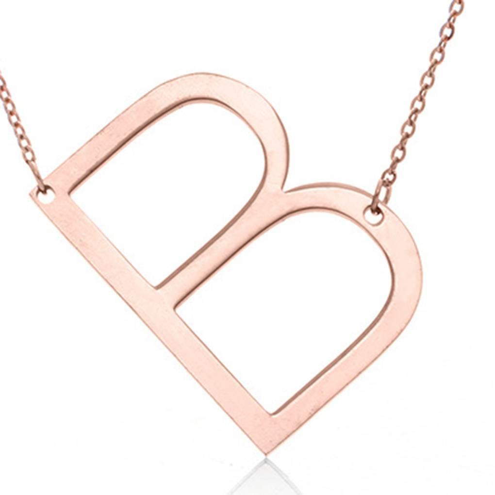 Elenxs NEW Stainless Steel Black Simple Cross Pendants Necklaces