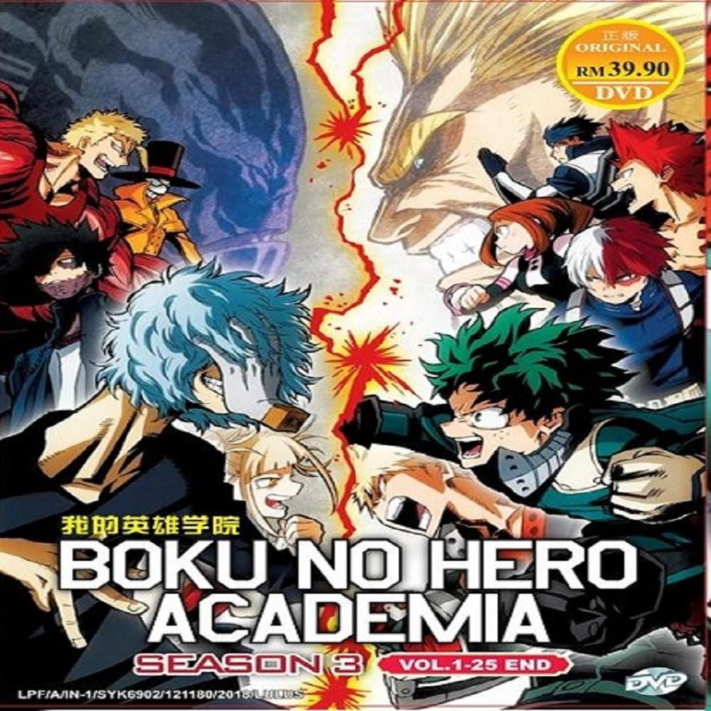 *ENG DUB* BOKU NO HERO ACADEMIA SEASON 3 VOL 1-25 END DVD ANIME