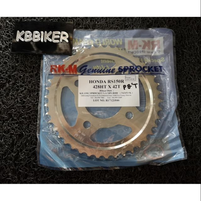 RS150 sprocket STT Harden steel | Shopee Malaysia