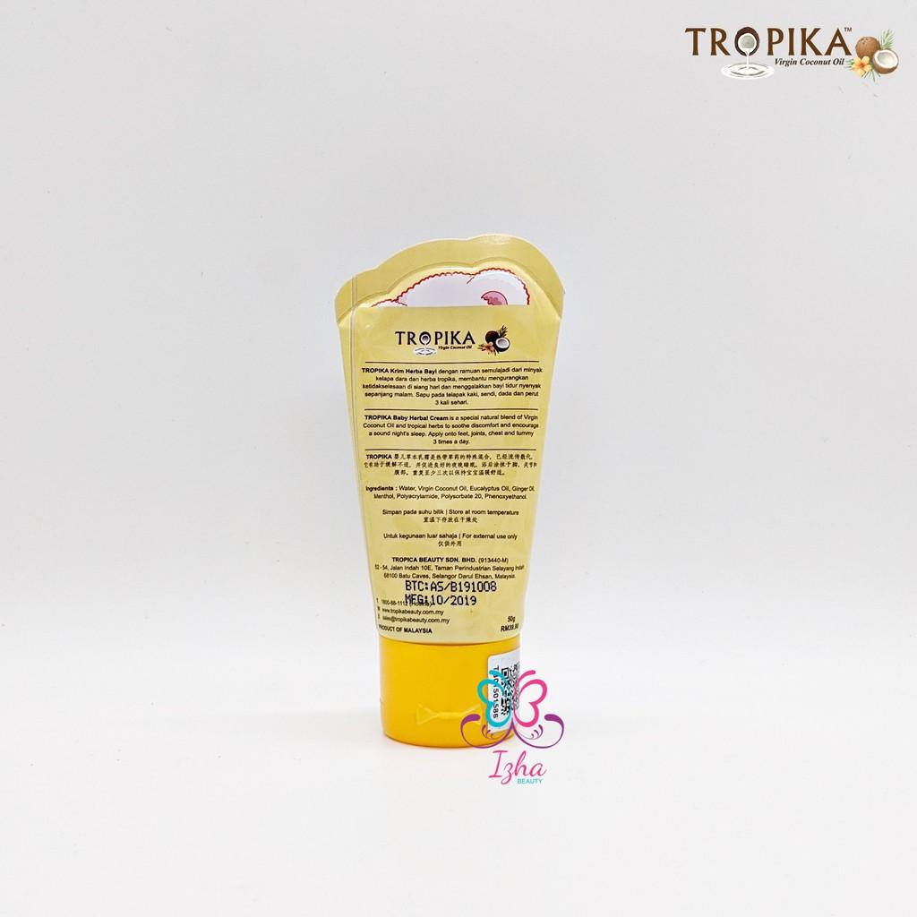 [TROPIKA BEAUTY] Baby Herbal Cream (tube) - 50ml