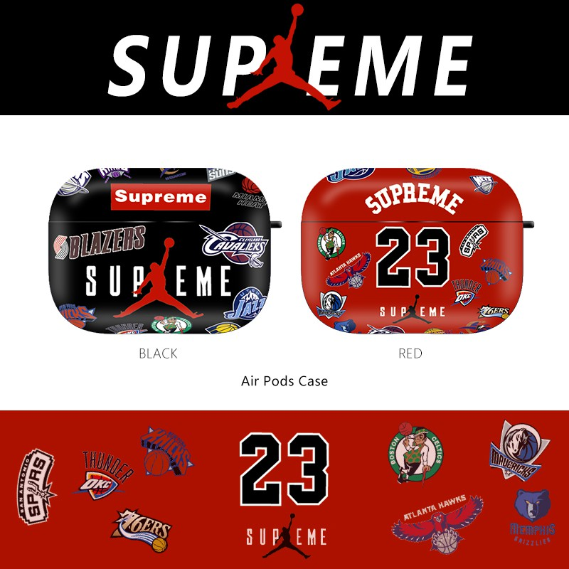 Nba Team 23 Aj Jordan Nike Sup Supreme Airpods Pro Casing Wireless