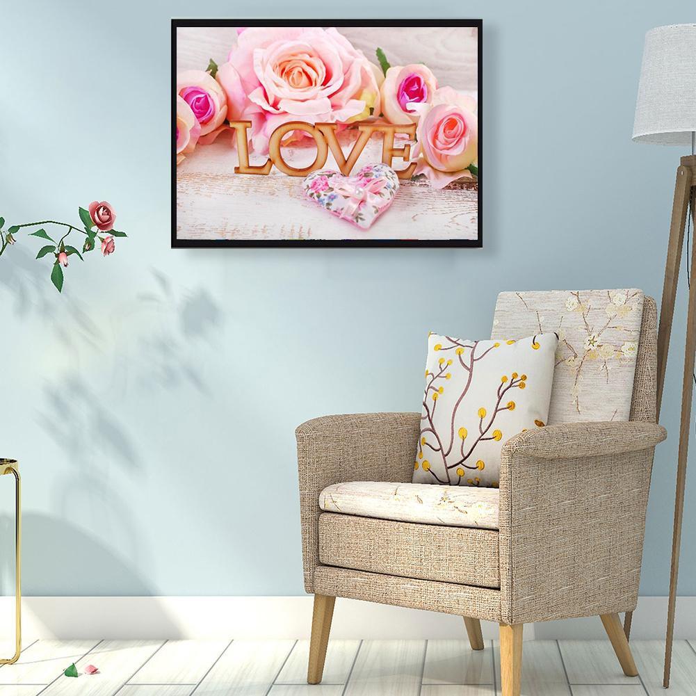 Novelty Diy Full Drill Diamond Painting Love Bear Model Led Light Home Bedroom Lamp Resin Glitter Rhinestones Modeling Lamp Home & Garden