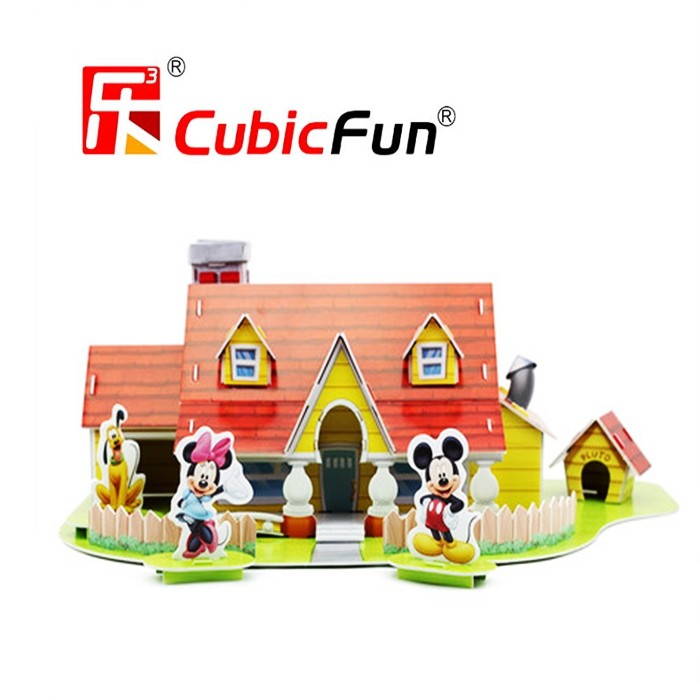 Mickey House in Toontown Disneyland 3D Puzzle 43Pcs