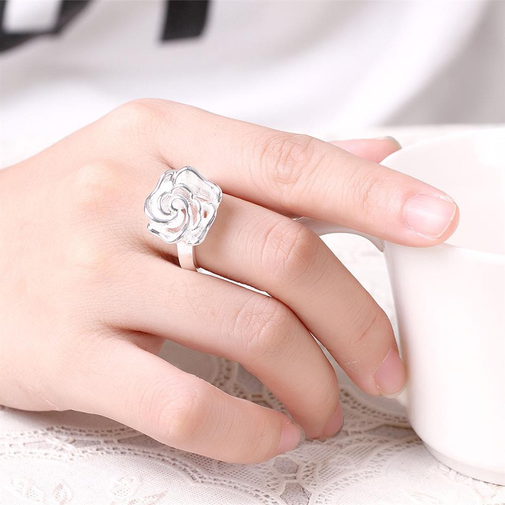 Double Crown Diamond Ring in Sterling Silver | Shopee Malaysia