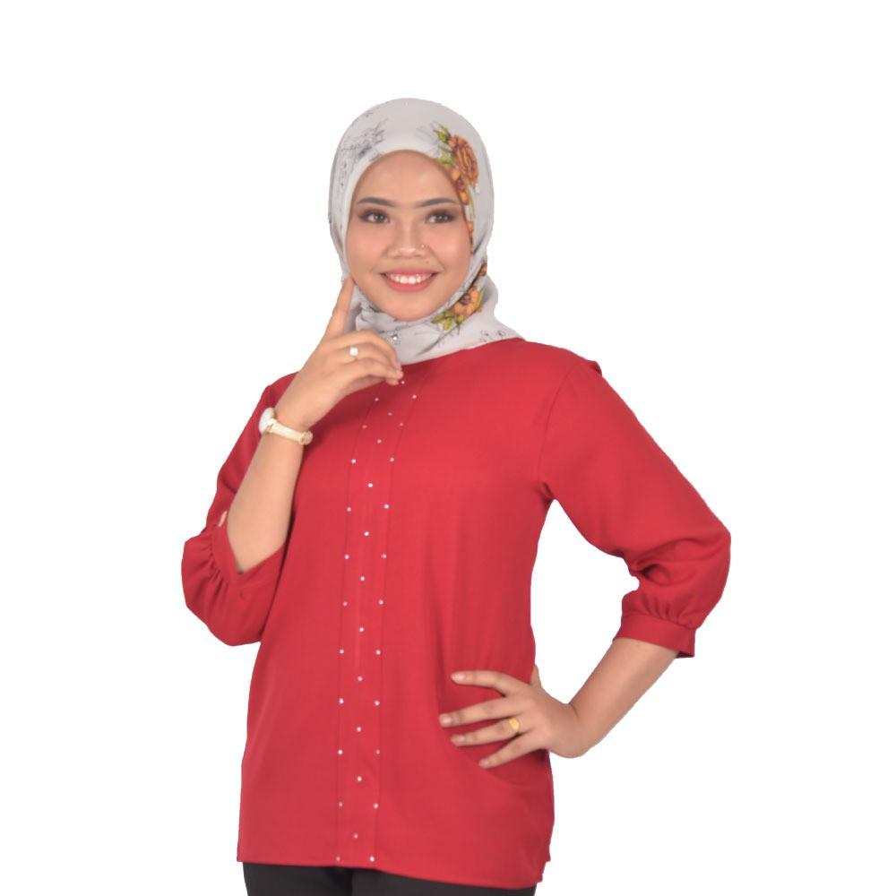 Fashion Muslimah Blouse Design -Premium Como Crepe 2 DESIGN AVAILABLE [Readystock]