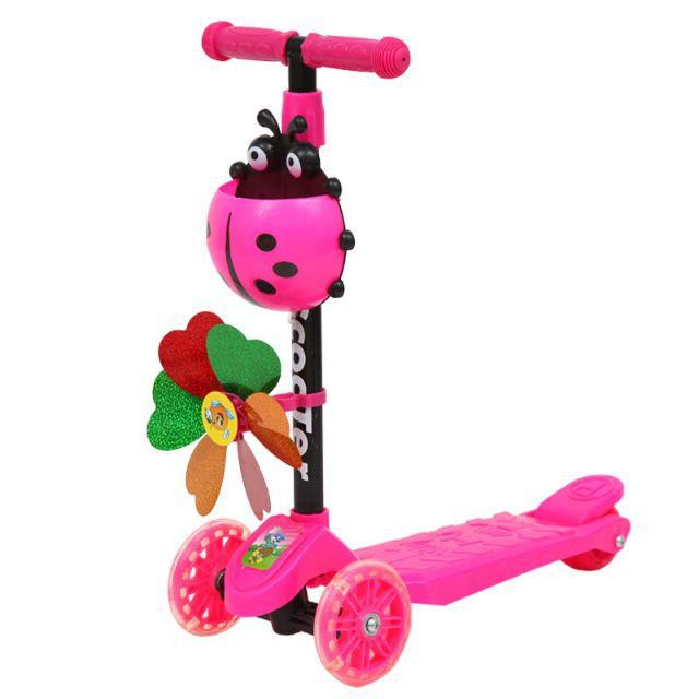 [ READY STOCK ]  Kid Kick Scooter 3Wheel Foot Scooter Bicycle Height Outdoor Pretend Play Jualan Murah Baby Toy Mainan