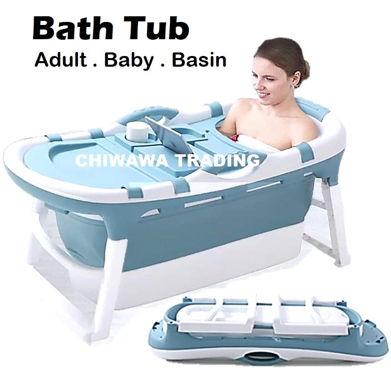 Foldable Newborn Baby Adult Bathtub Folding Bath Tub Shower Basin Infant Washbasin Toiletries Bathroom