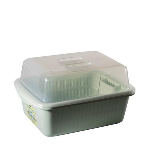 Clover Home with a lid dish rack/ bowl rack/ drain shelf/ tableware storage box/ kitchen cupboard racks