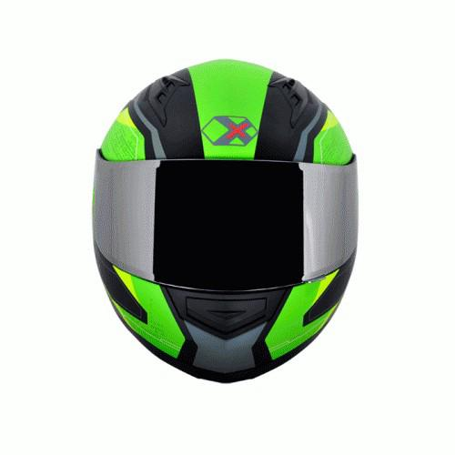 AXOR JARVIS JARVIS GREEN YELLOW FULL FACE HELMET | Shopee