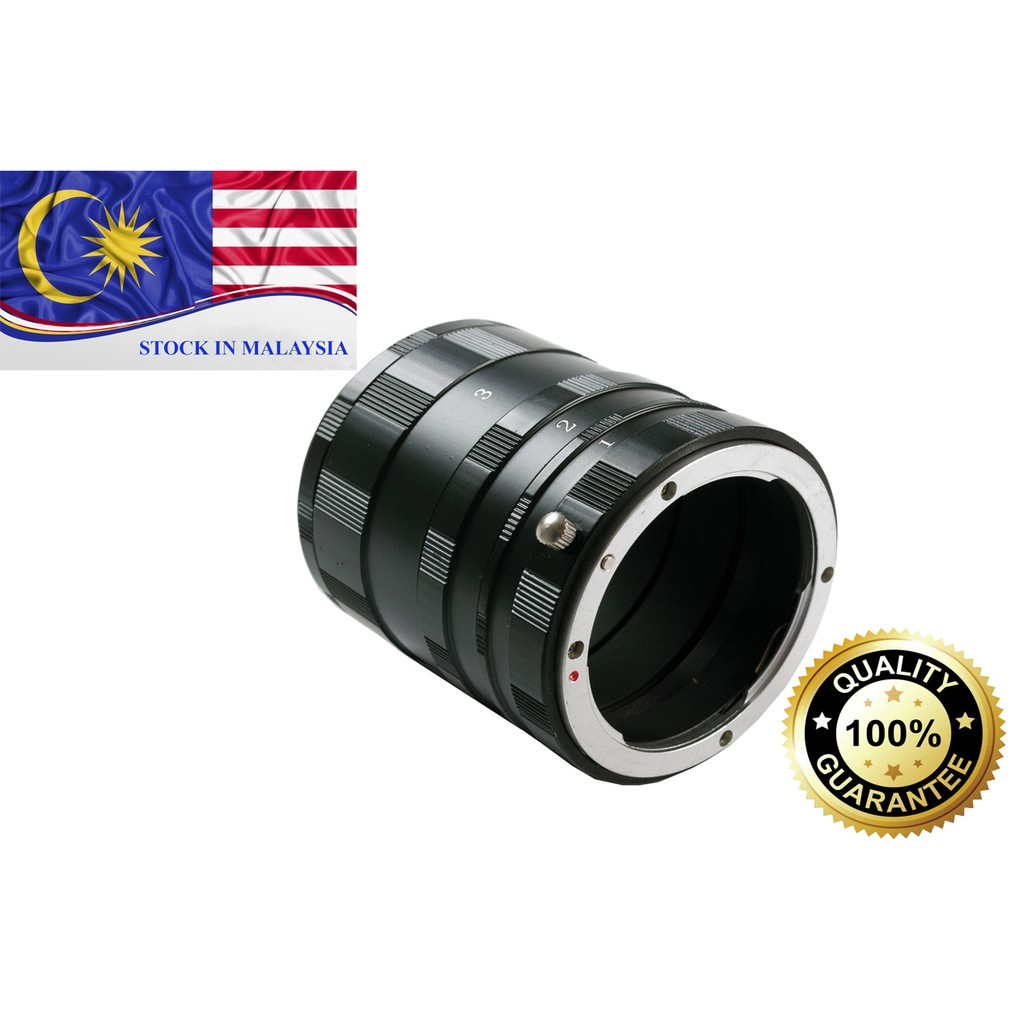 Macro Extension Tube Set Adapter Ring For Nikon DSLR (Ready Stock In Malaysia)