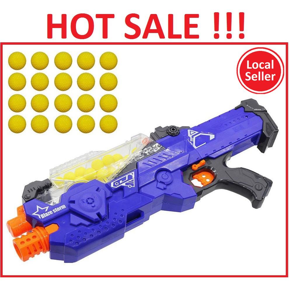 Toy Gun Blaze Storm Battery Operated Soft Ball Gun With 20pcs Soft Ball Shopee Malaysia