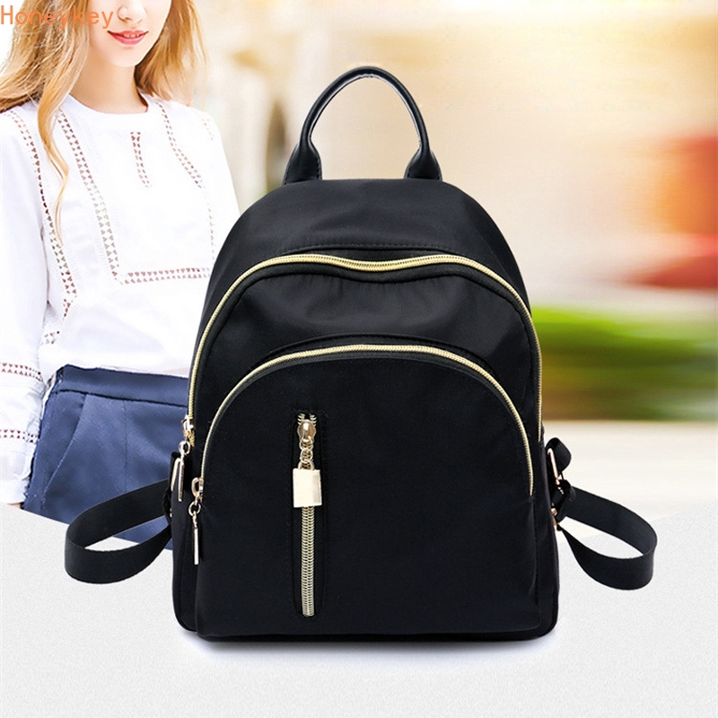 ec2ef95e8bb6 HK Fashion Zip Casual Reba School Travel Shoulder Backpack Bag Pack Beg  Bags Handbag Waterproof Backpack