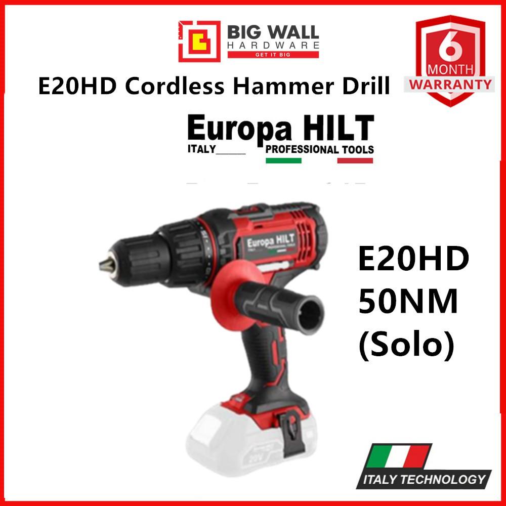 Europa Hilt E20HD Cordless Hammer Drill 6 Months Warranty Ready Stock from Malaysia Big Wall Hardware
