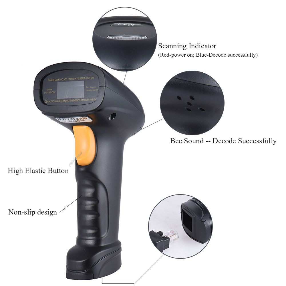 Auto Manual USB Handheld POS Barcode Scanner 1D Bar Code Reader Gun High Speed