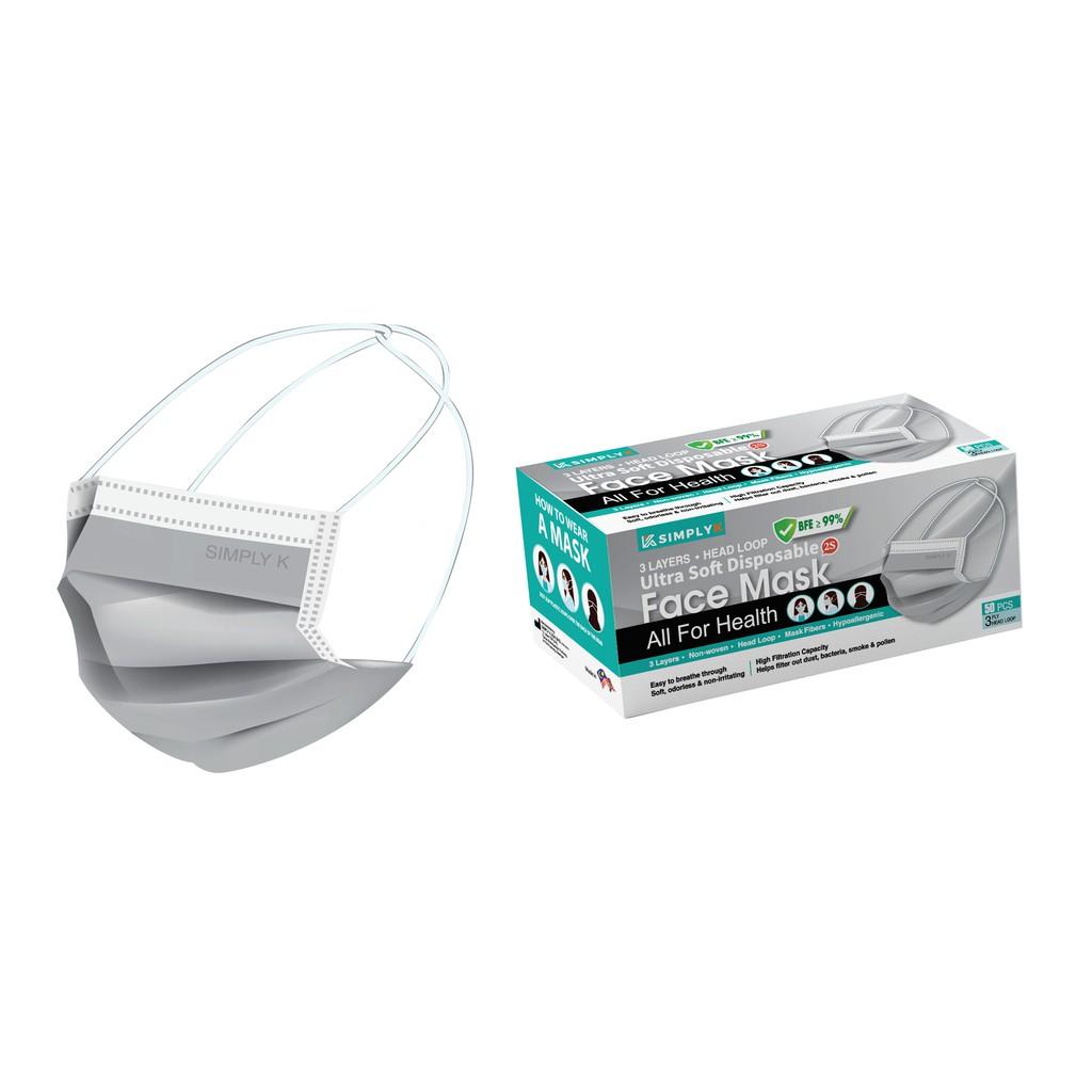【HEADLOOP Adult MASK 50pcs 】3 Ply Malaysia Made Disposable Respirator Face Mask 【Ready Stock】