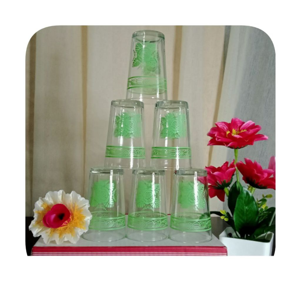 SET GLASS 6 IN 1 VIRAL | SET GELAS BERKUALITI DAN MURAH| ANNARI 05