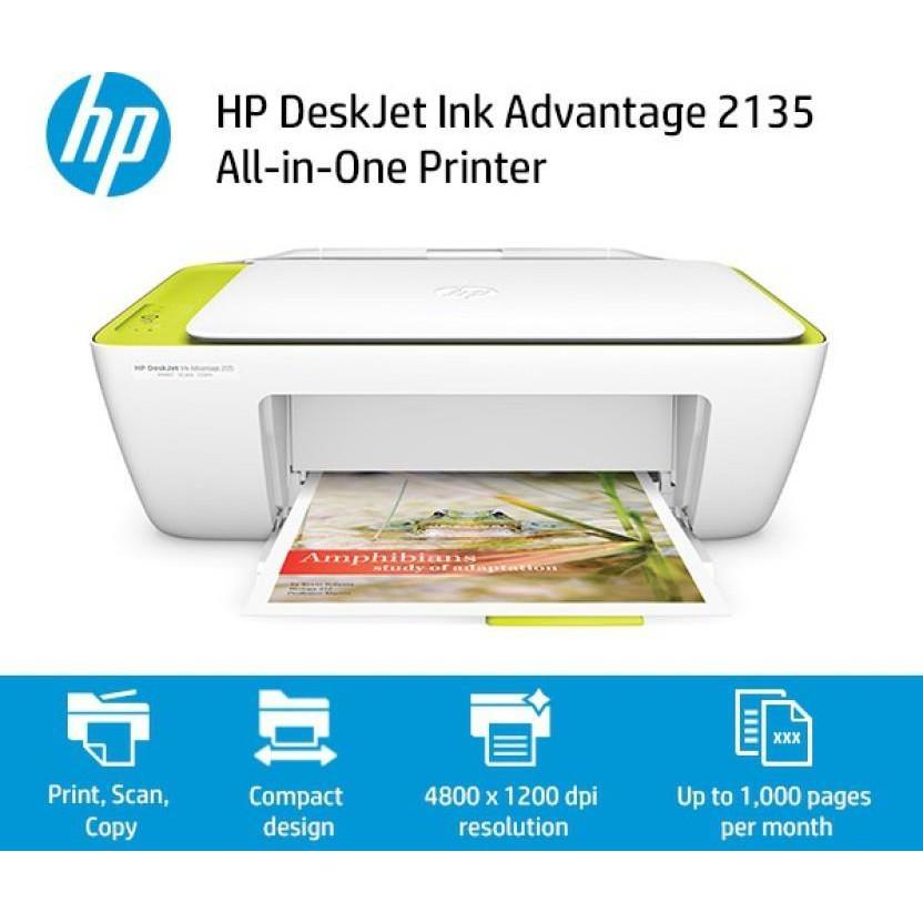HP DeskJet Ink Advantage 2135 All-In-One Printer (Full Set Original HP  Malaysia)