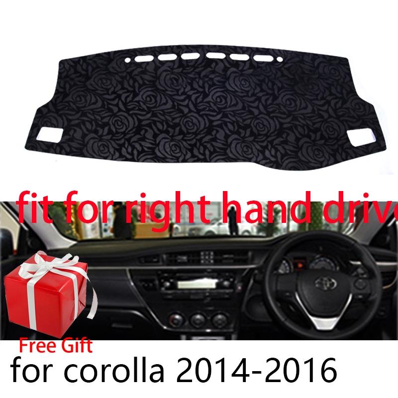 Non-slip DashMat Dashboard Cover Dash Cover Mat For Toyota Corolla 2014-2016