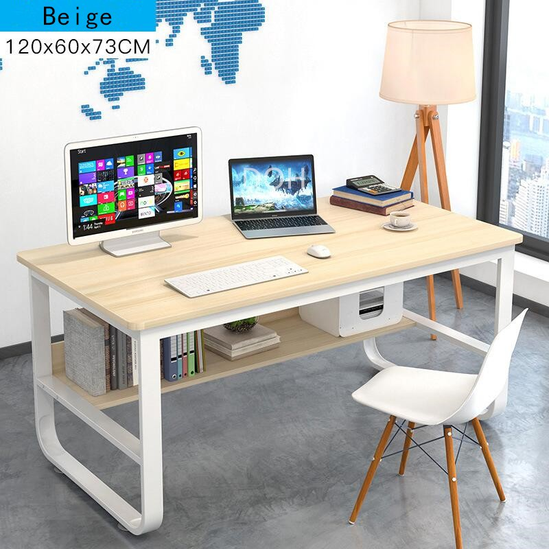 Modern Home Office Desk Living Room Wood Table Workstation Computer Desks Study 120x60cm Shopee Malaysia