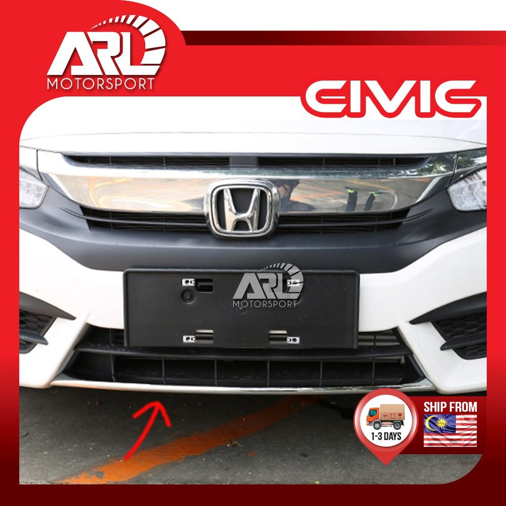 Honda Civic X (2016-2020) FC Front Bumper Lower Chrome Garnish Car Auto Acccessories ARL Motorsport