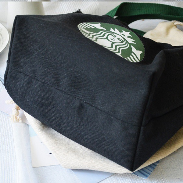 Starbucks Rope Tighten Type Tote Bag, Shopping Bag, Lunch Bag