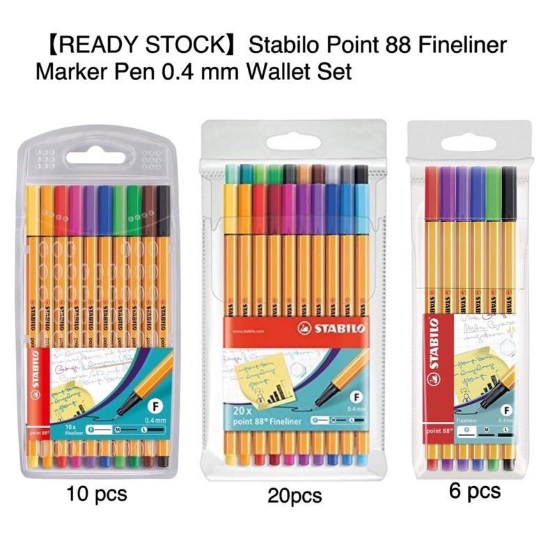 【READY STOCK】Stabilo Point 88 Fineliner Marker Pen 0.4 mm Wallet Set
