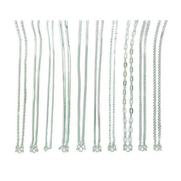สร้อยคอ: สร้อยคอเงินแท้925 ความยาว 18,20 นิ้ว ลายขายดี : มณีธารา MT Jewelry (scmix2)