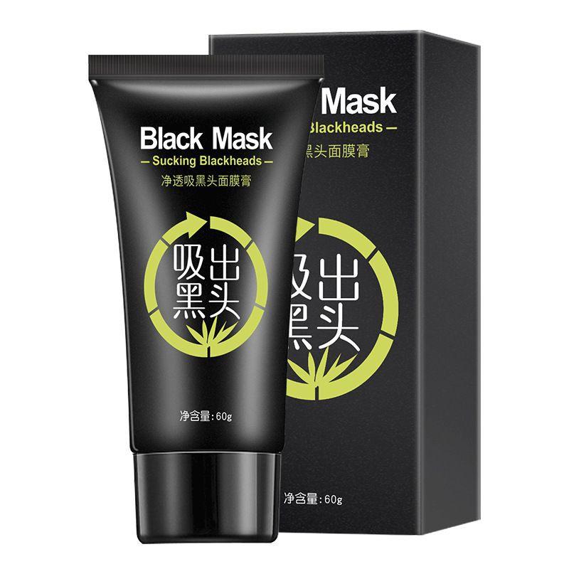 [ READY STOCK ]  Blackhead Remover Black Face Skin Mask Bamboo Oil Control Peel Mask Anti Acne Makeup Jualan Murah Facial