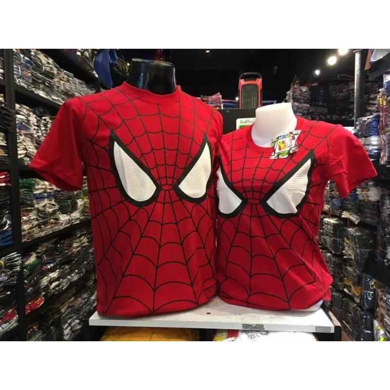 เสื้อยืด ซุปเปอร์ฮีโร่ สไปเดอร์แมน Spiderman ลิขสิทธิ์แท้ Marvel Comics ❤แจกโค้ด NEW1922 ลดทันที 80