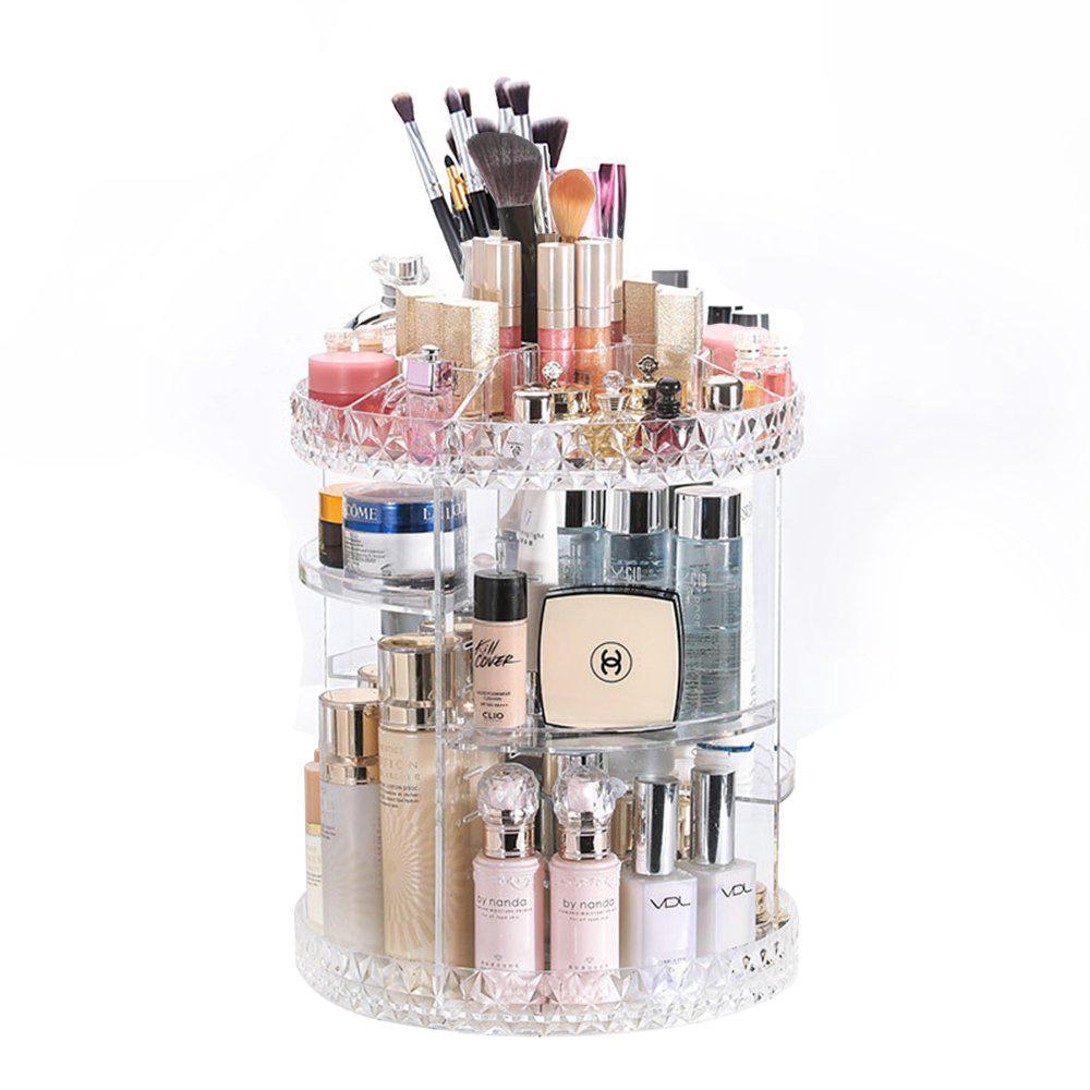 dd3ecb7b87e6 Makeup Organizer 360-Degree Rotating Adjustable Multi-Function ...