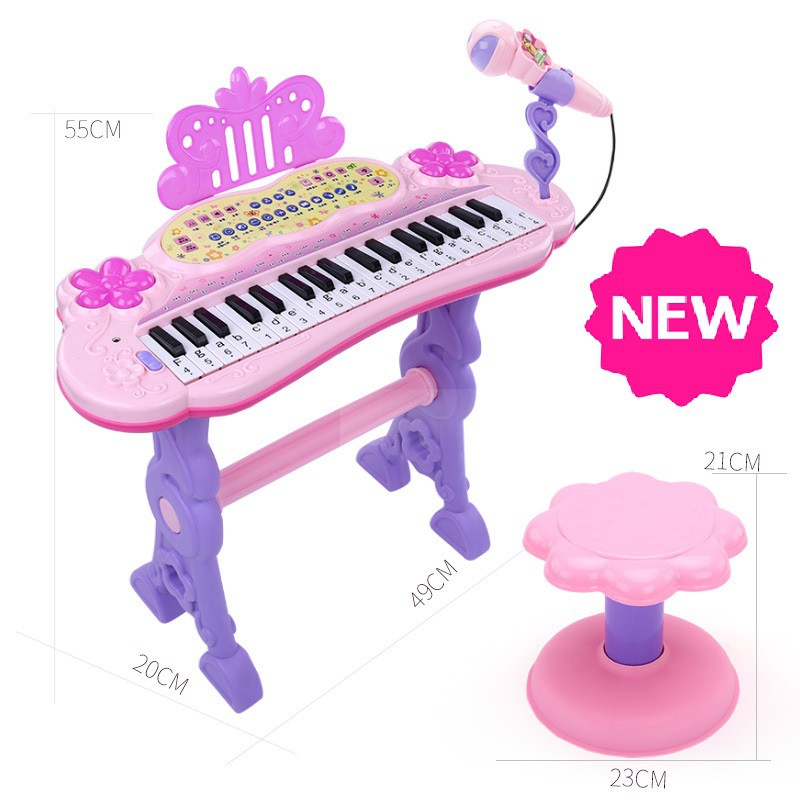 [ READY STOCK ]  Musical Toy Electronic Keyboard Piano Set With Microphone Kid Mainan Music Jualan Murah Budak Baby Kid