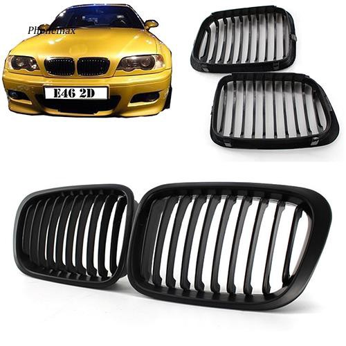 Pnmx New Front Replacement Kidney Grilles For Bmw 1998 2001 E46 318i 320i 325i 330i