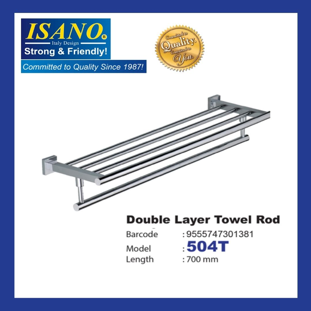 ISANO Double Layer Towel Rod - 504T