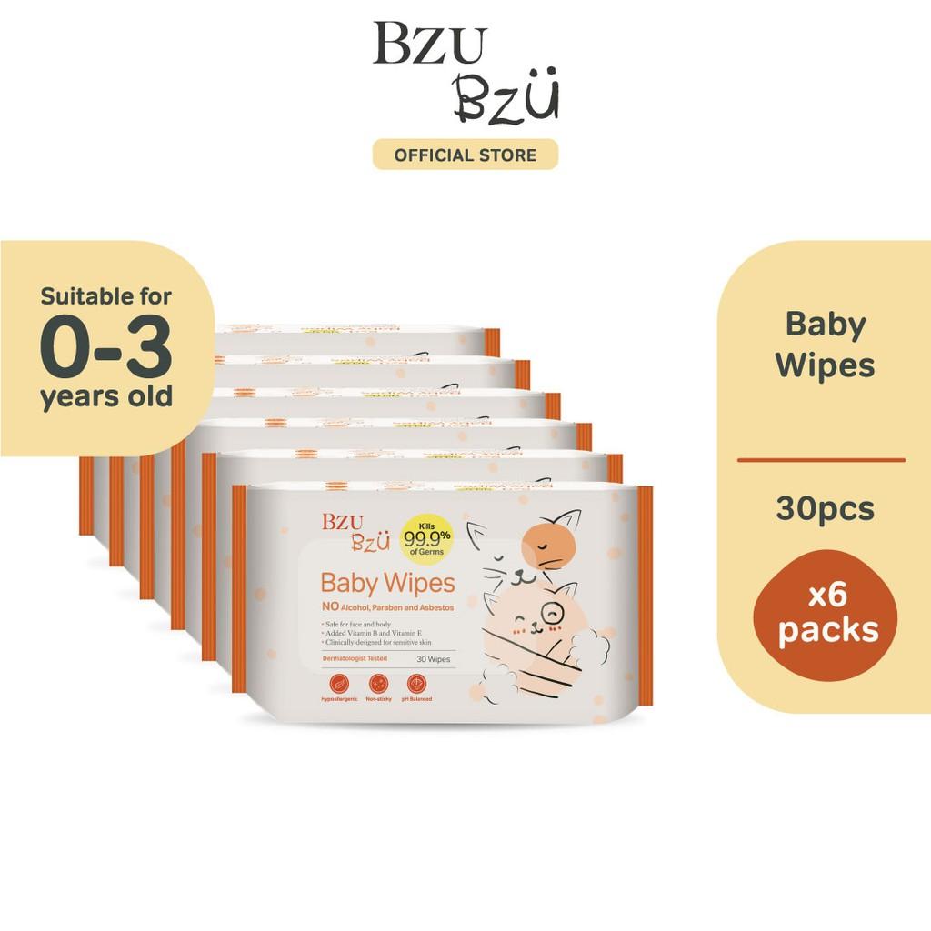 BZU BZU Baby Wipes (30 Pcs x 6)